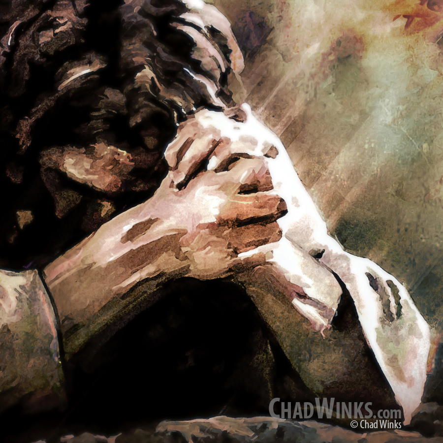 In Agony He Prayed – Jesus Christ in Gethsemane Painting