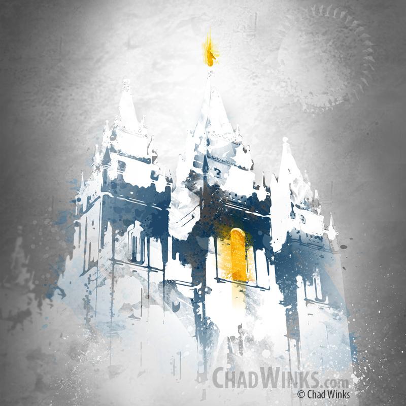Salt Lake City Temple – Temple Painting